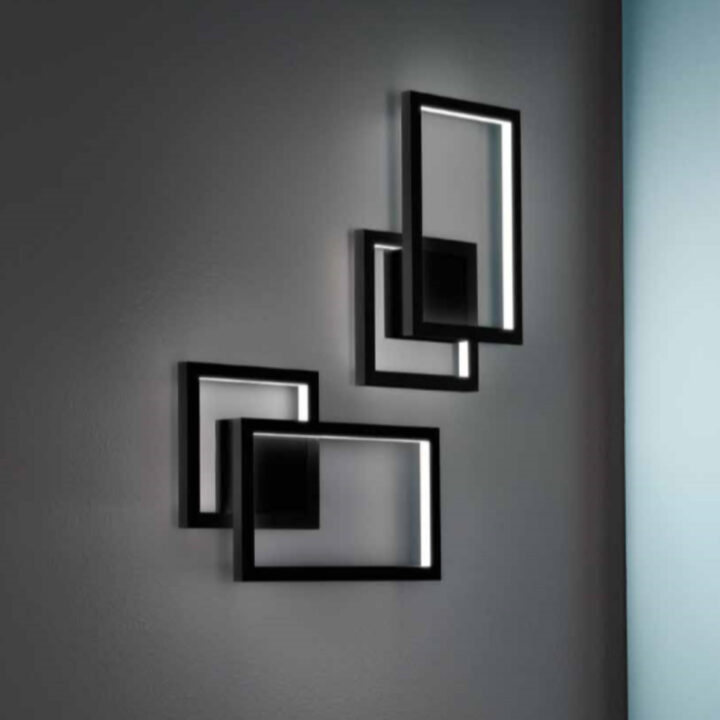 Applique CROSS in alluminio laccato bianco o nero