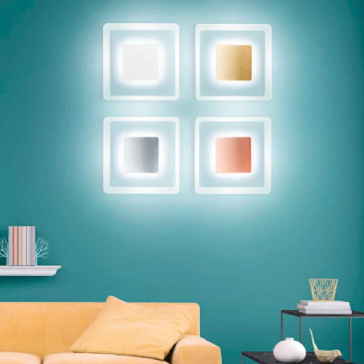 Plafoniere Aruba con diffusore in vetro e bordo sabbiato, centrale in metallo oro,rame, cromo, bianco - luce led antiabbagliamento da 2280 lumen