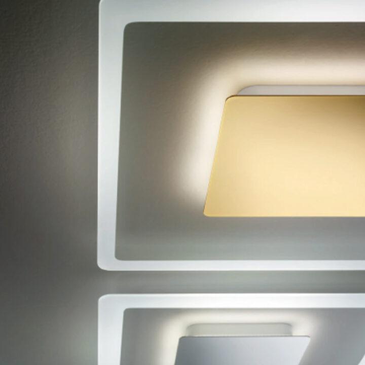 Serie Aruba in vetro trasparente con bordo sabbiato e centrale in metallo in 4 versioni colorate - dimensioni 50x50cm e 35x35cm copia